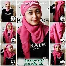 tutorial hijab segitiga paris simple lifestyle fashion