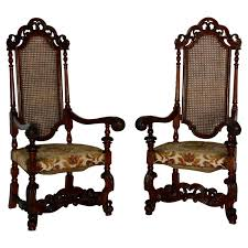 High Back Chairs pair of spanish baroque high back chairs for sale at 1stdibs