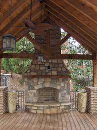 Atlanta Landscape Materials by Time Lapse Outdoor Stone Fireplace Construction In Atlanta Ga