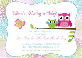 baby shower invitations glamorous owl invitations for baby shower