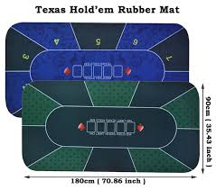 Texas Holdem Table by Aliexpress Com Buy 1pc Texas Hold U0027em Rubber Mat Poker Game Table