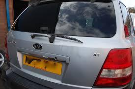 kia sorento xt crdi 2005 rear boot hatch tailgate in grey paint