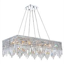 Rectangular Chandelier With Crystals Worldwide Lighting Chandeliers Series Collection Cascade
