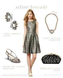 silver dresses for a wedding silver brocade cocktail dress