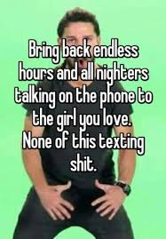 Talking On The Phone Meme - bring back endless hours and all nighters talking on the phone to