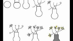Draw A Flower Vase How To Draw A Vase With Flowers Simple Step By Step Drawing