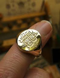rings with initials gallery rebus signet rings