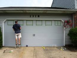 Insulating Garage Door Diy by Garage Doors Can You Paint Garage Door To Look Like Wood Spray