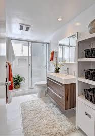 modern bathroom vanities bathroom contemporary with beige shag rug