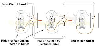 electrical outlet wiring in series diagram combination switch and