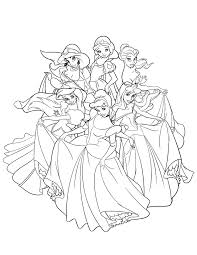 disney princesses coloring pages 18 free