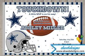 dallas cowboys baby shower invitation football themed baby shower