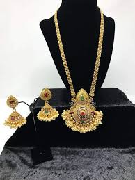 long necklace pendant images Shop today south asian jewelry sets collection usa based avya jpg