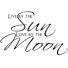 amazon com live by the sun by the moon bedroom quote decors