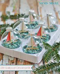 do it yourself sailboat ornaments a day at the sea glass