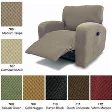 Couch Covers For Reclining Sofa by Reclining Sofa Slipcover Suede Taupe Adapted For Dual Recliner