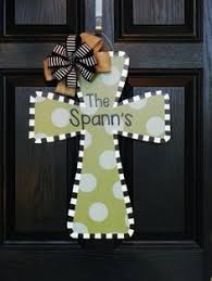 wood crosses for crafts cross door hanger or wall decor wood painted by lilgapeach