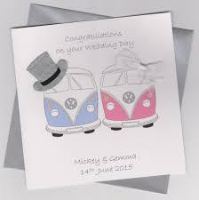 card for from groom personalised handmade wedding card groom cer vans