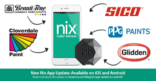 nix app update for ios and android including popular paint brands