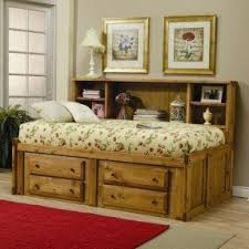 twin storage bed with bookcase headboard foter