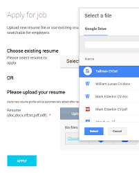 Resume Upload For Jobs by File Upload Google Drive Dropbox Copy Paste Jobmount