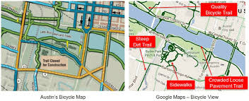 Austin Bike Map mapping comfort part ii the new frontier in online bicycle maps