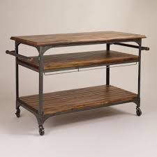 wood and metal jackson kitchen cart kitchen carts work surface