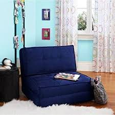 Folding Living Room Chair Navy Blue Flip Out Folding Sleeper Chair Pull