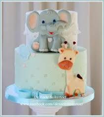 baby shower cake toppers fondant giraffe and elephant love
