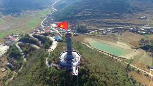 Drone Lung Lung Cu Flag Tower From Drone In Hagiang Stock Footage