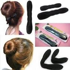 bun accessories 2pcs hair tool styling accessories hair magic sponge clip foam bun