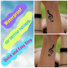 easy diy waterproof tattoo making tutorial it look real and