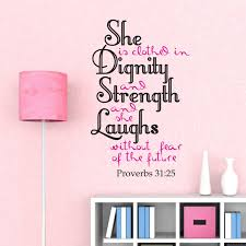 Christian Home Decor Proverbs 31 25 Christian Home Decor She Is Clothed In Strength