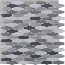 Peel  Stick Mosaic  X In  Pcs Backsplash Tiles  SqFt - Peel and stick backsplash