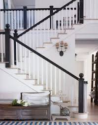 Painted Banister Ideas Black Stair Risers And Baseboards Wow I Wonder How Far The Black