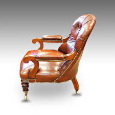 william iv mahogany leather reading chair now sold hingstons