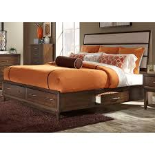 Upholstered Headboard Storage Bed by King Two Sided Storage Bed With Upholstered Headboard By Liberty