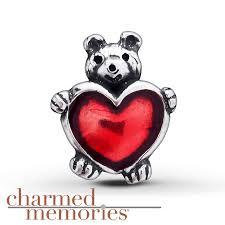 kay jewelers charmed memories kay charmed memories teddy bear u0026 heart charm sterling silver