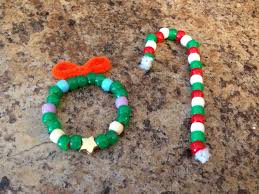 bead christmas crafts just use pipe cleaners and pony beads in