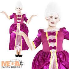 Tudor Halloween Costumes Pink Georgian Girls Tudor Fancy Dress Kids Victorian Book