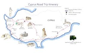 Road Trip Map A Road Trip In Cyprus Free Printable Map Road Trips Around The