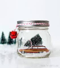 car in jar snow globe mason jar christmas crafts mason jar