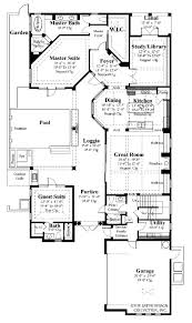Scaled Floor Plan Mediterranean Style House Plan 4 Beds 5 00 Baths 3031 Sq Ft Plan