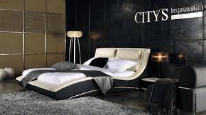 Modern Platform Bed With Lights - bedroom charming modern bedroom decoration using black leather