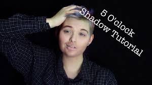 realistic beard male makeup tutorial 5 o clock shade