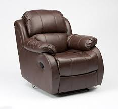 clifton leather electric recliner chair brown amazon co uk