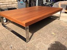 Calligaris Coffee Table by Italian Calligaris Large Coffee Table Walnut U0026amp Chrome Frm
