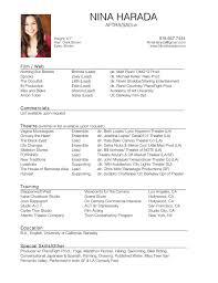 Best Acting Resume Font by Resume Nina Harada