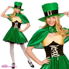 mens ladies st patricks day irish leprechaun green fancy