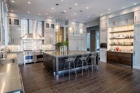 Buffet Kitchen Island Contemporary Kitchen With High Ceiling U0026 Kitchen Island In